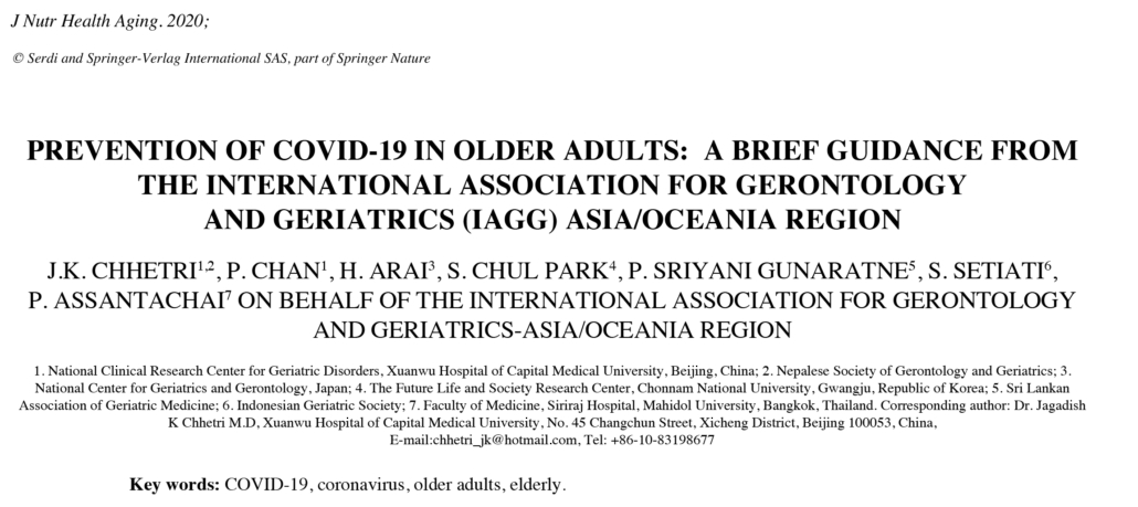 Prevent Covid-19 Older Adults IAGG Report